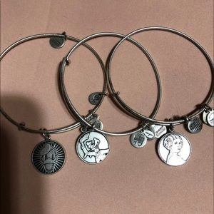 Alex and Ani Disney Silver Bracelets